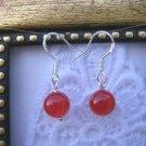 Handmade Simple Ruby Earrings, Free U.S. Shipping!