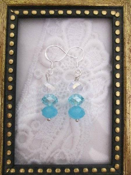 Handmade Rain Drop Crystal Earrings, Free U.S. Shipping!
