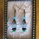 Handmade Gnorm Garden Blue Flower Earrings, Free U.S. Shipping!