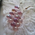 Light Purple Grape Mist Earrings, Free U.S. Ship!