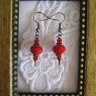 True Red Crystal Earrings, Free Ship!