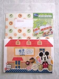 New! Disney Classic Mickey Mouse Letter Set 8 Sheet Pads 4 Envelopes & Stickers