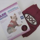 "NWT Bark Boutique Small Dog Sweat Shirt, Red, ""DOG"" Aapplique Patch, Free Ship"