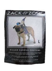 New! Halloween Costume for Dogs, Zack & Zoey Wizard Saddle Large, Free US Ship!