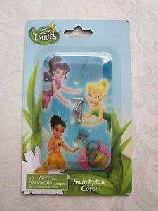 NIP Disney Fairies Tinkerbell, Silver Mist & Iridessa Switchplate Cover Set