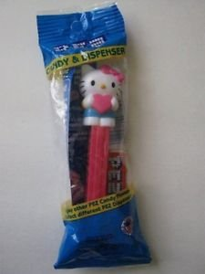 NEW! Sanrio HELLO KITTY w/ Heart Pez Dispenser, FREE U.S. Shipping!