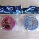 Set of 2 Disney Princess Round Face Zipper Coin Purse, Frozen, Tangled, Mermaid