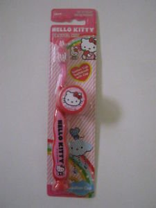 NEW! Sanrio HELLO KITTY Kids' Home / Travel Toothbrush, Free U.S. Shipping!