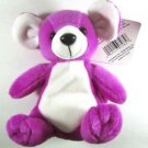 NWT Vintage Huggable Honeys Purple Mouse Plush Bean Bag Animal Excelnt Condition