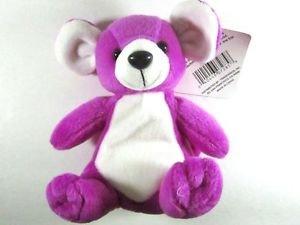 NWT Vintage Huggable Honeys Purple Mouse Plush Bean Bag Animal Excelnt Condition