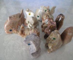 NEW! Peru Mini Stone Carving Fetish Collectible Animals Free U.S. Shipping!