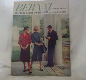 BERNAT BOOK NO. 65 BULKY KNITS  1958 BERNAT BULKY KNITS Designed by Mirsa of Italy for Women and Men