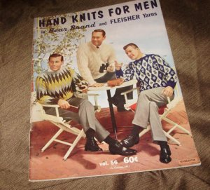 HAND KNITS FOR MEN IN BEAR BRAND & FLEISHER YARNS