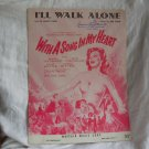 I'll Walk Alone, Susan Hayward With a Song in My Heart SUSAN HAYWARD Movie Sheet 1944