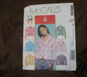 MCCALL'S PATTERN 5058