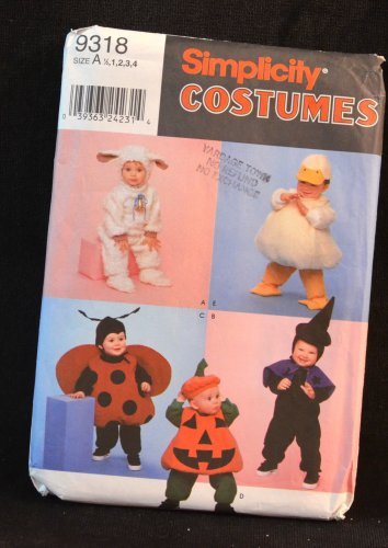 SIMPLICITY PATTERN 9318 Toddler's Costume