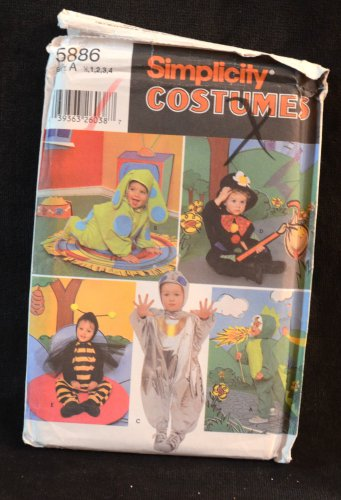 SIMPLICITY PATTERN 5886 Toddler's Costume