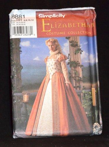 SIMPLICITY ELIZABETHAN COSTUME PATTERN 8881