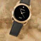 Mens diamond quartz watch
