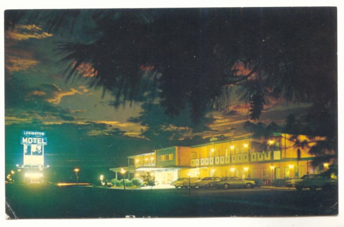 LEXINGTON MOTEL, VIRGINIA, VINTAGE CHROME POSTCARD 7