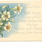 EASTER JOY, LILIES, VERSE VINTAGE  POSTCARD ANTIQUE   19