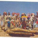 INDIANS IN CEREMONIAL DRESS, VINTAGE CHROME POSTCARD   24