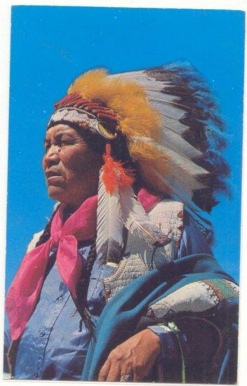 APACHE INDIAN, VINTAGE 1960 CHROME POSTCARD  25