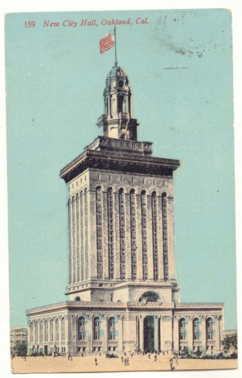1912 NEW CITY HALL, OAKLAND CALIFORNIA VINTAGE POSTCARD   27