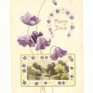 HAPPY DAYS, REMEMBRANCE, SCENE, POPPIES, HORSESHOE Postcard  76