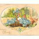 AFFECTIONS OFFERING BIRDS IN BASKET OF FLOWERS POSTCARD   113