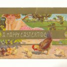 EASTERTIDE PRETTY LADY HEN CHICKS VINTAGE POSTCARD   115