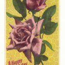 HAPPY BIRTHDAY, LARGE PINK ROSES, PHOTO POSTCARD    146