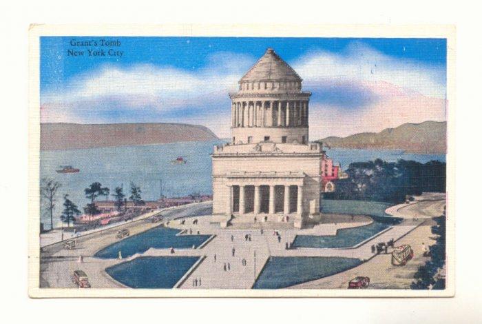 GRANT'S TOMB NEW YORK CITY, VINTAGE 1938 POSTCARD   #177