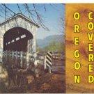 OREGON COVERED BRIDGE, VINTAGE CHROME POSTCARD    #179