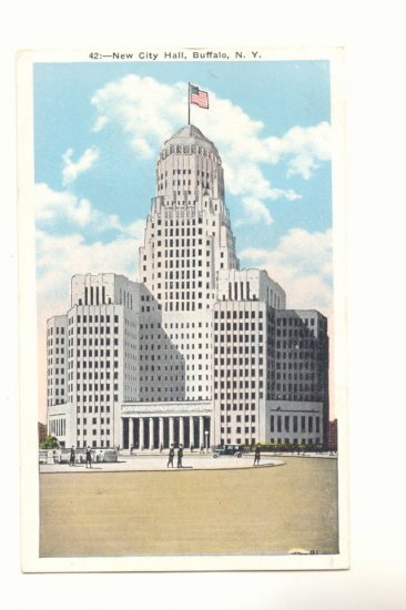 NEW CITY HALL, BUFFALO, NEW YORK VINTAGE 1943 POSTCARD   #181