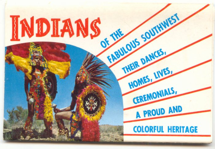 INDIANS OF THE SOUTHWEST, SOUVENIR POSTCARD FOLDER   #182