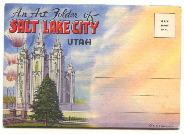 VINTAGE SOUVENIR FOLDER OF SALT LAKE CITY UTAH ANTIQUE   #184