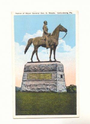 STATUE MAJOR GENERAL MEADE GETTYSBURG, PA POSTCARD   #194