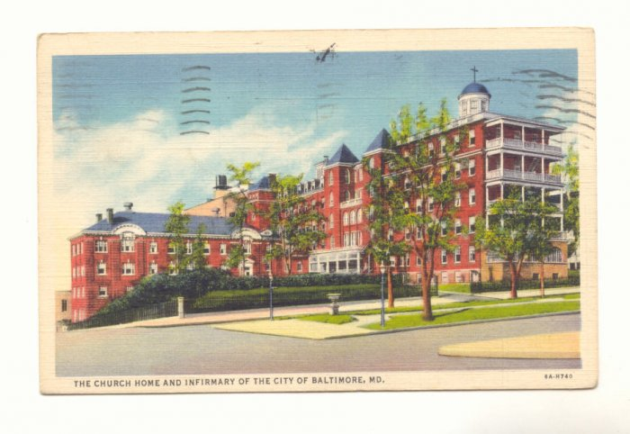 CHURCH HOME & IMFIRMARY CITY OF BALTIMORE MARYLAND POSTCARD #195