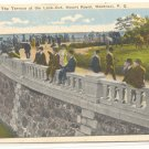 TERRACE AT THE LOOKOUT, MOUNT ROYAL, MONTREAL Unused POSTCARD  #202