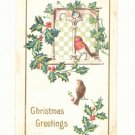 CHRISTMAS, ROBIN BIRDS, HOLLY, IVY, VINTAGE POSTCARD   #234