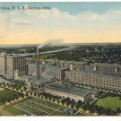 BIRD'S EYE VIEW, N.C.R., DAYTON, OHIO VINTAGE 1914  POSTCARD #253