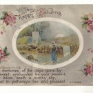 MANY HAPPY RETURNS, COUNTRY SCENE VINTAGE 1919   POSTCARD #281