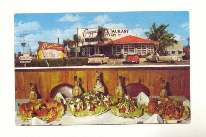 LOUIS PAPPAS' RESTAURANT, ST. PETERSBURG, FLORIDA   POSTCARD #319