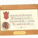 EASTER GREETING, VICTORIAN MOTTO PANSY POSTCARD 1911   #333