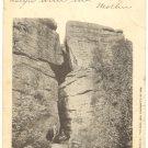 TWIN ROCKS AT ROCK CITY, OLEAN, N.Y. VINTAGE 1904  POSTCARD #386