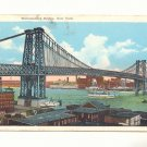 WILLIAMSBURG BRIDGE, NEW YORK VINTAGE LINEN POSTCARD   #428