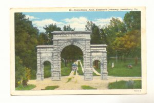 CONFEDERATE ARCH, BLANDFORD CEMETERY, PETERSBURG, VIRGINIA, Vintage Postcard #435