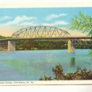PATRICK STREET BRIDGE CHARLESTON WEST VIRGINIA Postcard   #436