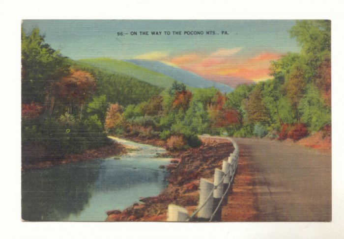 On The Way To The Pocono Mts, Pennsylvania Postcard   #447